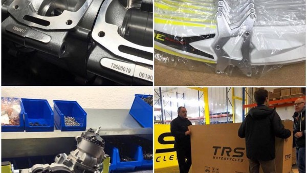 TRS celebrate first production bikes