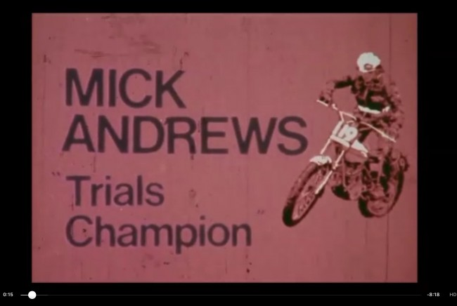 Mick Andrews, Trials Champion