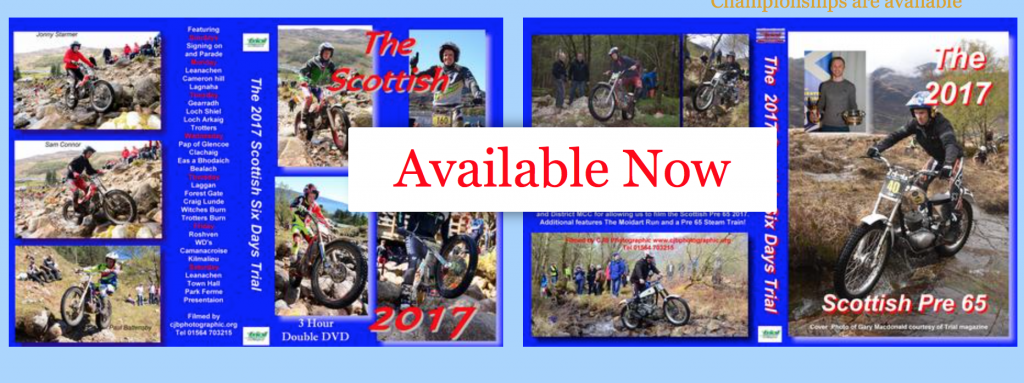 2017 SSDT and Pre65 Scottish Trial DVD's